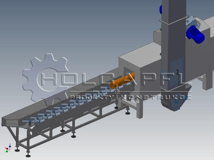 Conveyor for combined mode of transport